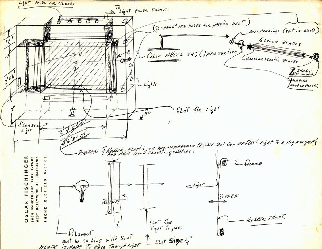 Lumigraph sketch by Oskar Fischinger